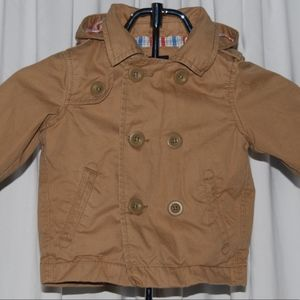 🎁 4/$25 Baby GAP Khaki Jacket with Removable Hood